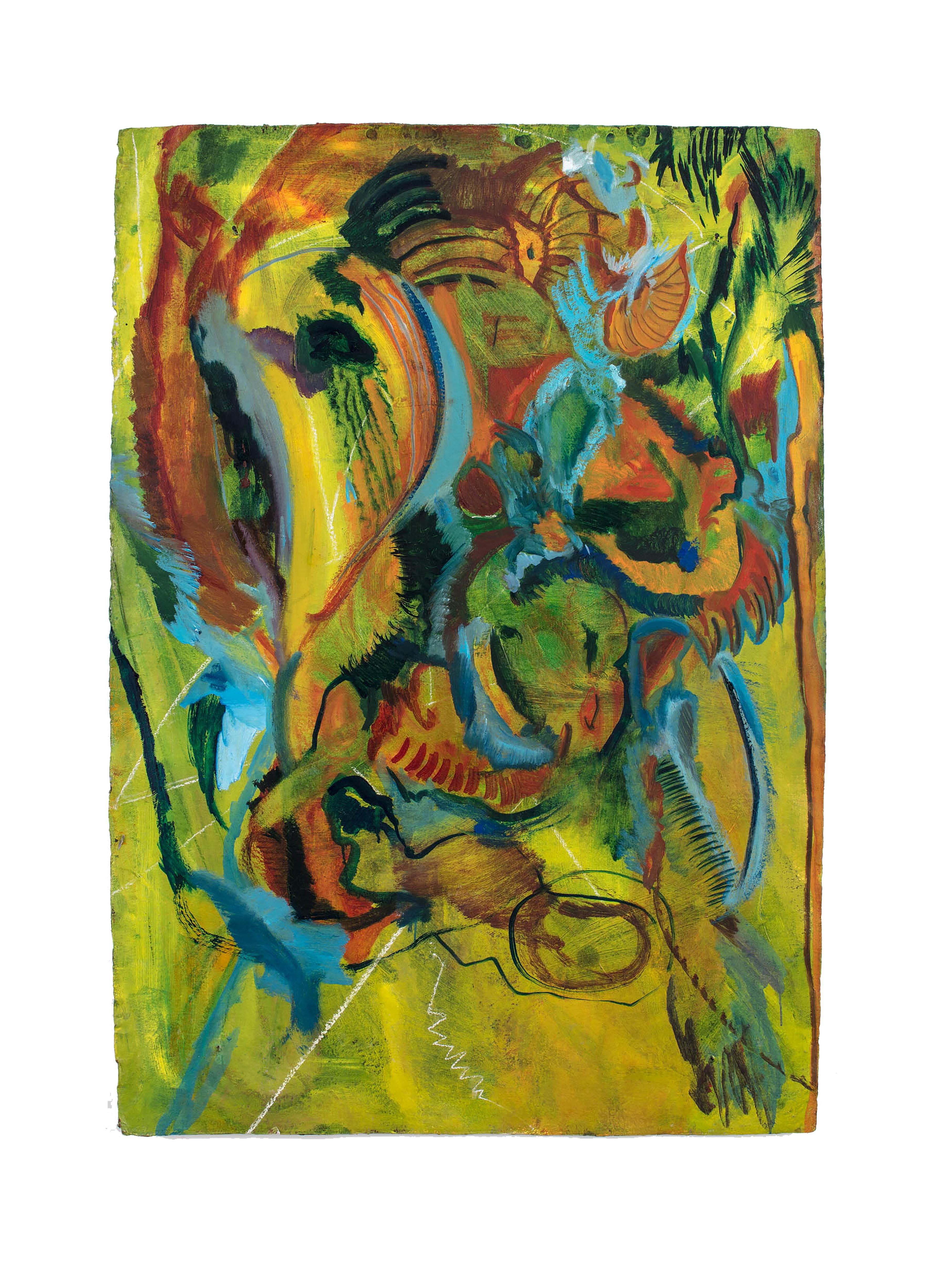bloom. Oil on handmade paper. 150cm x 180cm