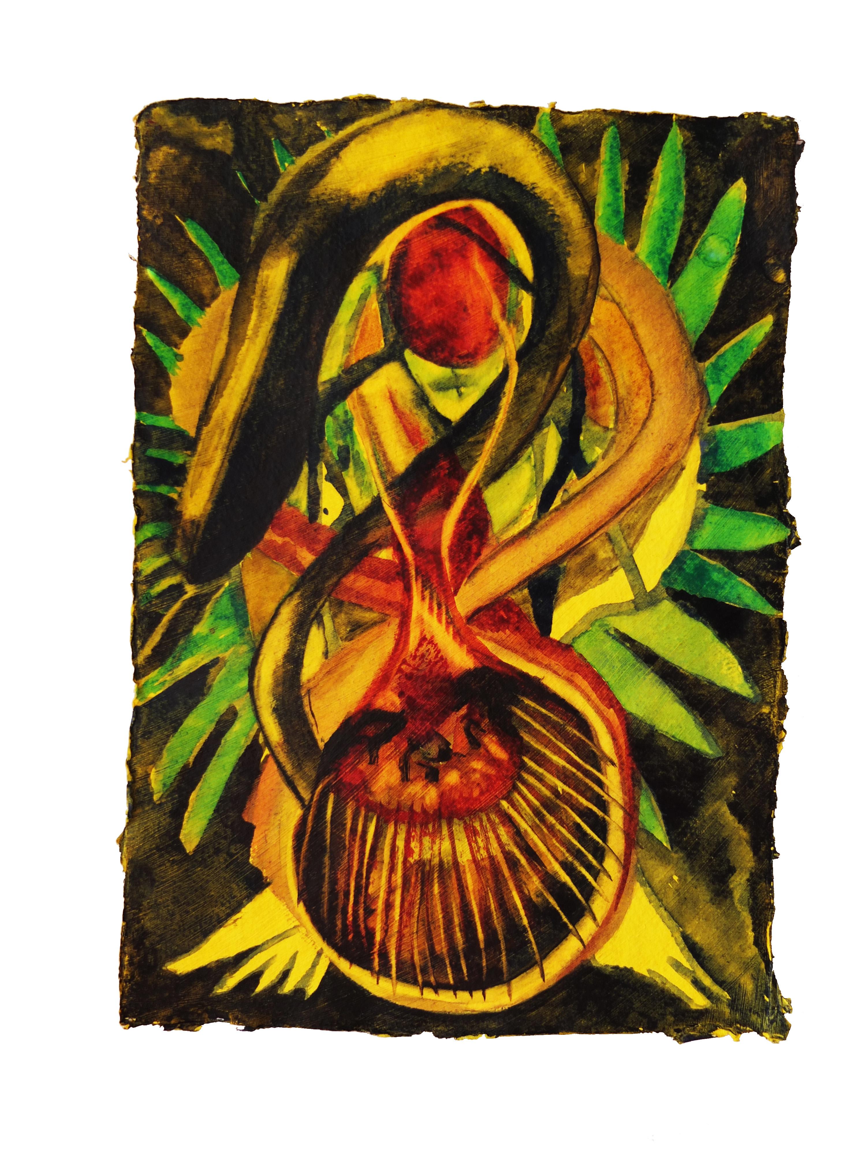 Watercolour on handmade paper, 15cm x 20cm
