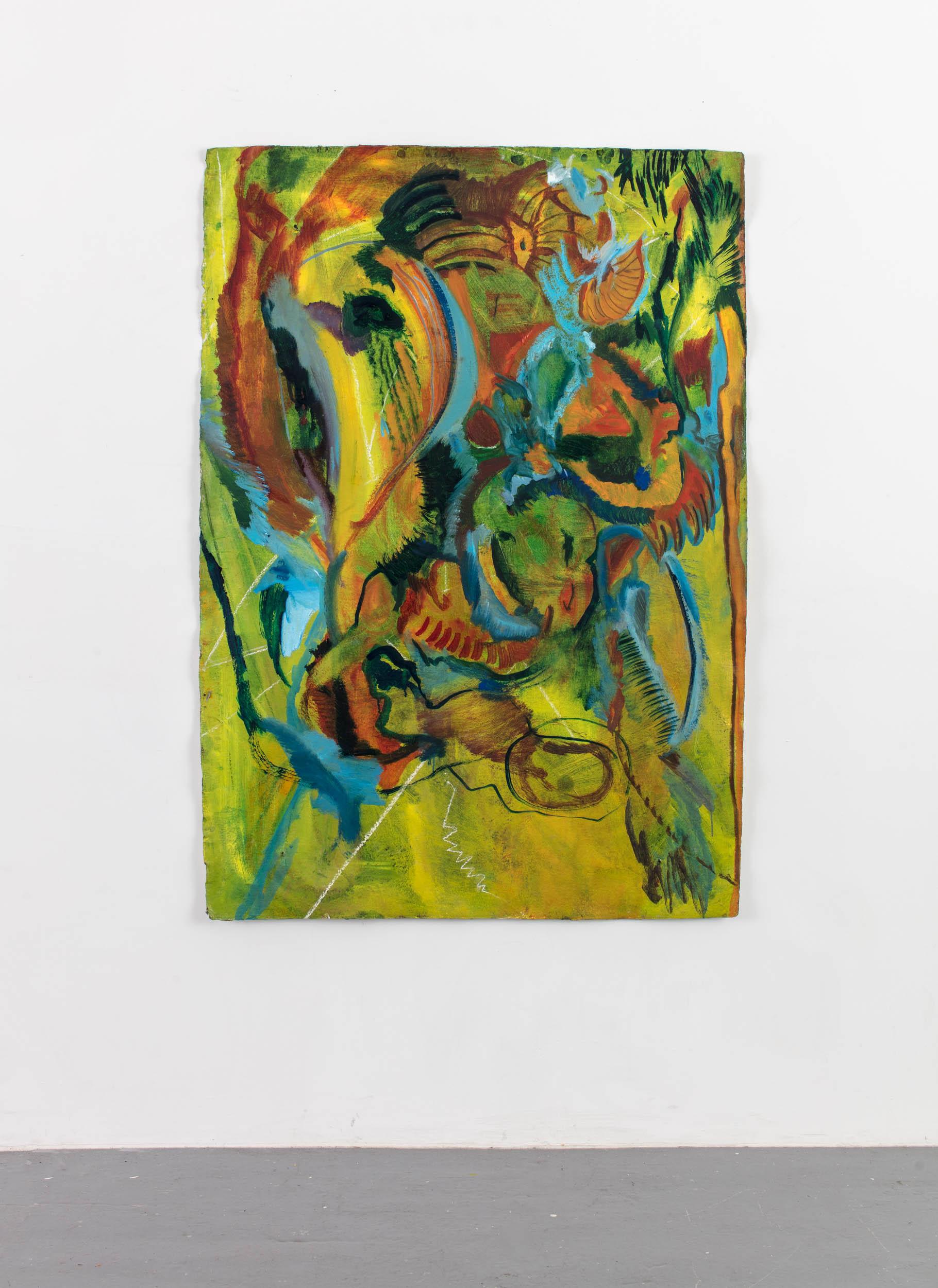 Oil paint on Khadi paper, 100cm x 140cm, 2018