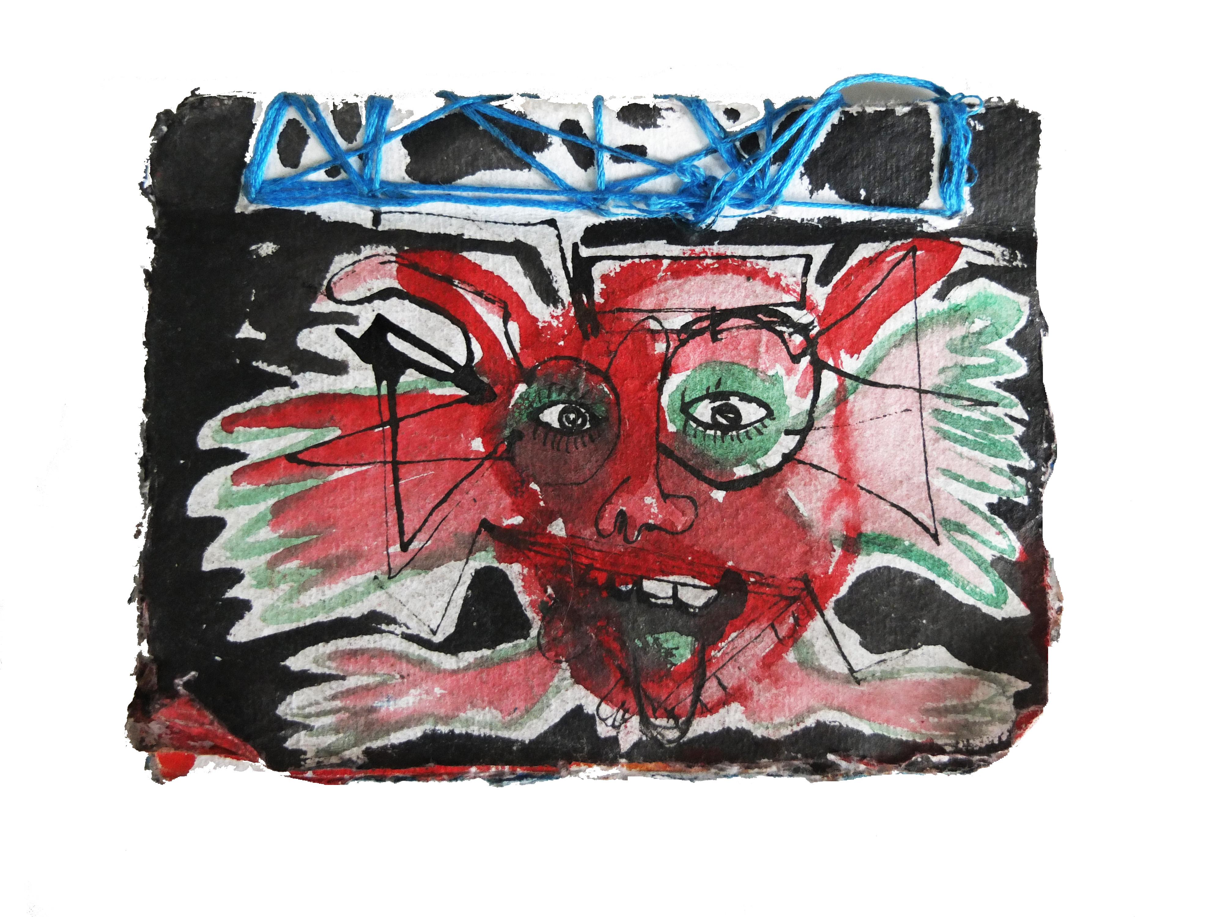 Oaxaca. handmade book using handmade paper. 12cm x 16cm