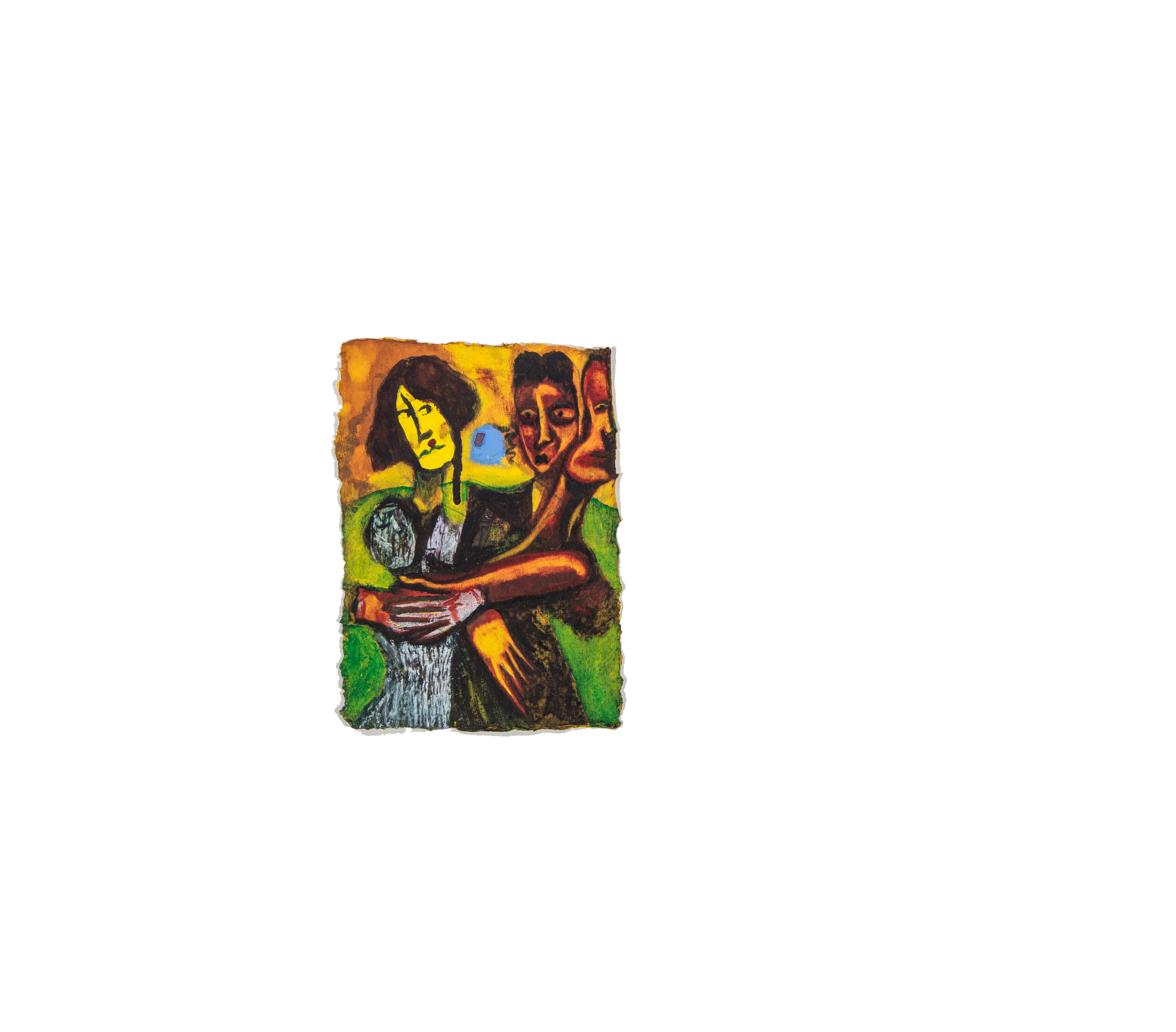split. Watercolour on handmade paper, 14cm x 20cm